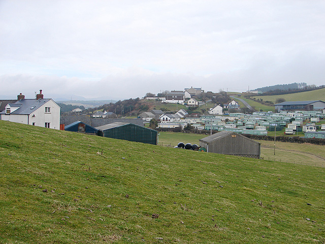 Caravans at Penygraig, upper Borth