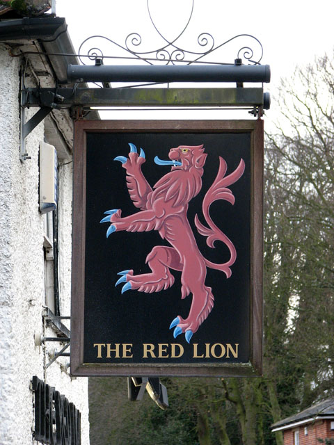 The Red Lion - pub sign