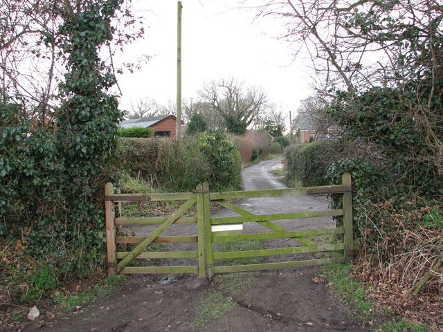 Where Chapel Lane ends