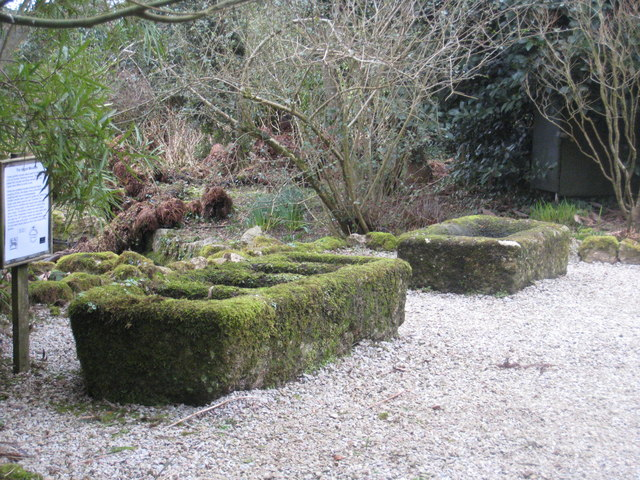 Granite tin moulds in Trewidden Garden