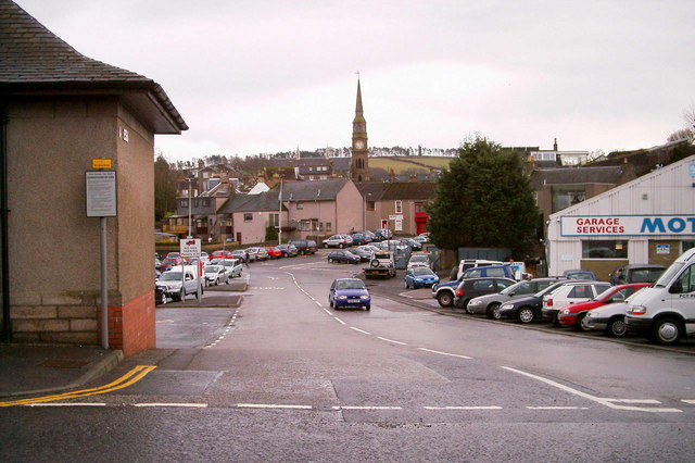 View of Greens Car park, Forfar