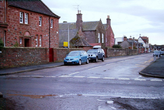 Church Street, Edzell at its junction with Lethnot Road