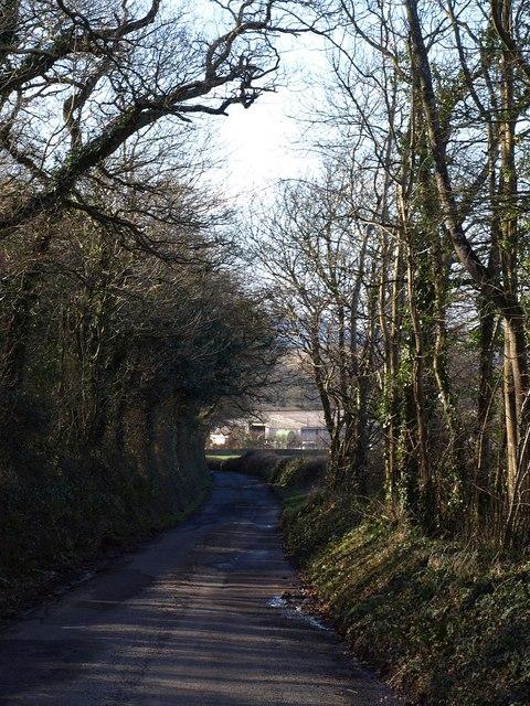 Lane to Rixeypark Corner