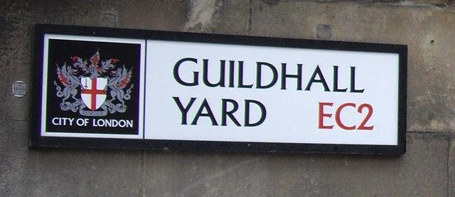 Street Sign 'Guildhall Yard