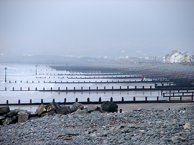 Breakwaters on Borth Beach