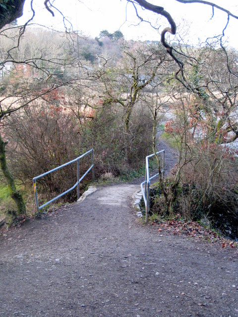 Footbridge at the end of the causeway