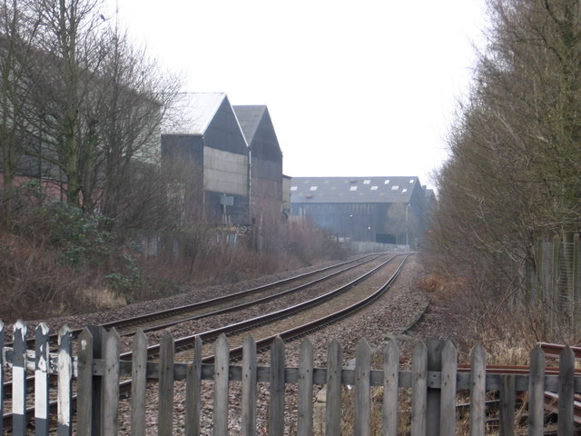 Sutton-in-Ashfield - Steelworks from Sutton Forest Crossing