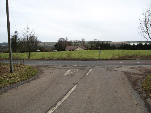 Junction of minor road and A698