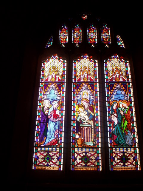 Stained Glass and Leaded Window in St. Martin Of Tours, West Coker
