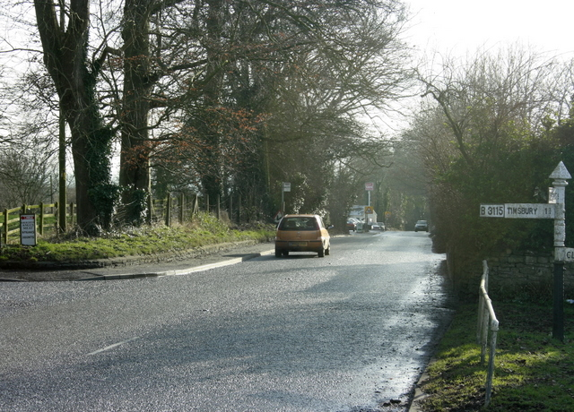 2009 : A39 going south at Cross Ways