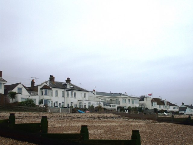 Houses on Seasalter Beach