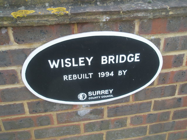 Plaque on Wisley Bridge