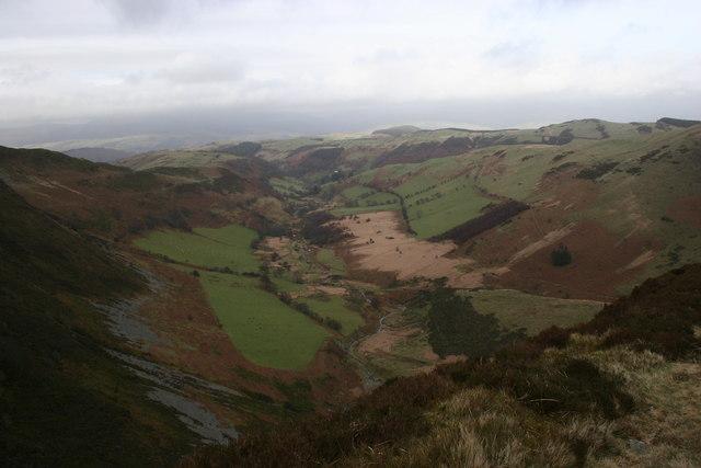 Above the falls, Cwm Rhaiadr