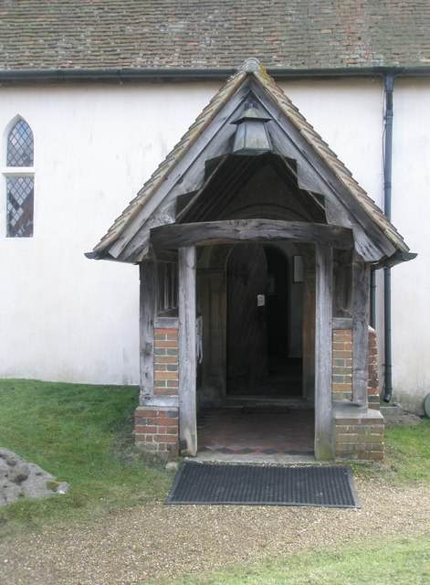 The church porch at Wisley