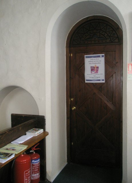 Door to the vestry within Wisley Parish Church