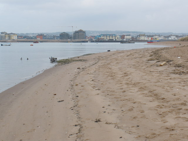 Sand spit, at the end of Dawlish Warren