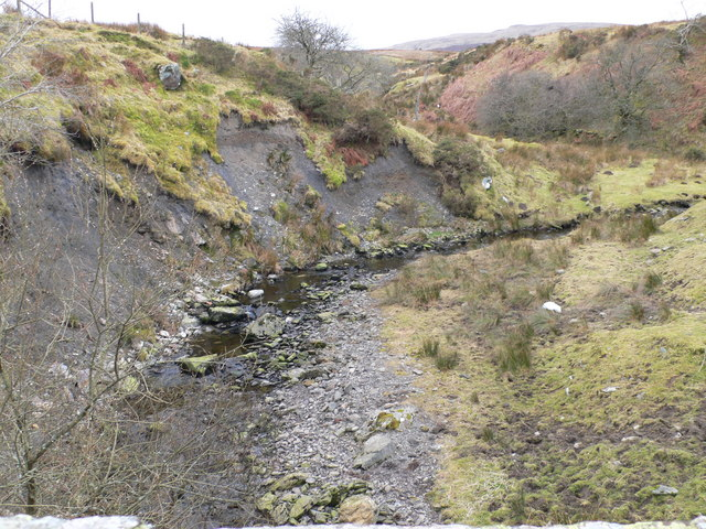Eroded banks of the river Eidda