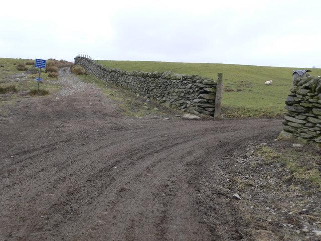 The road to Blaen Eidda Isaf