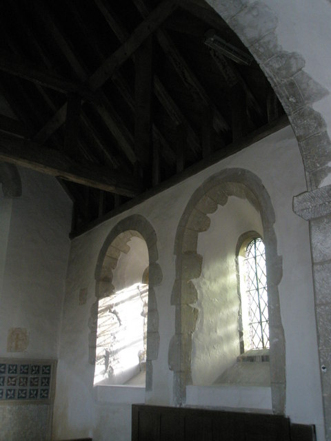 Windows in the chancel at Wisley Parish Church