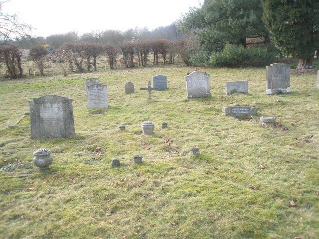 Gravestones  in Wisley Parish Churchyard