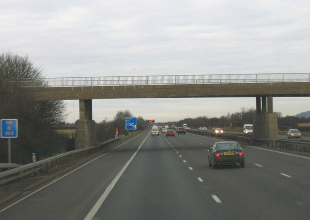 M5 Motorway, Junction 9, One Mile to go.