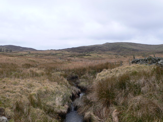 Looking south across the moorland at Pont Rhydyrhalen