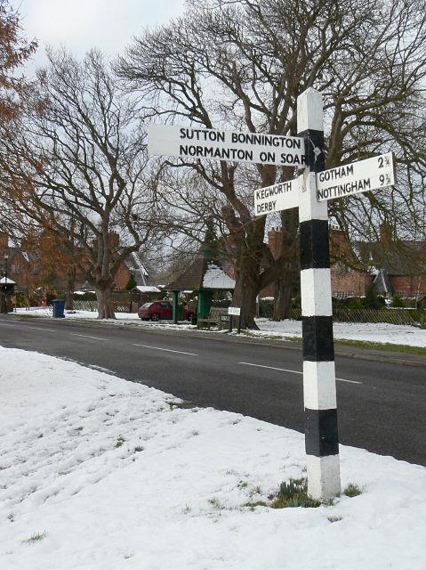 Signpost, Kingston-on-Soar