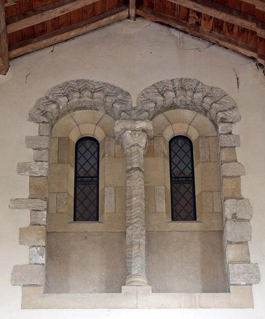 St Mary, Gressenhall, Norfolk - Tower windows