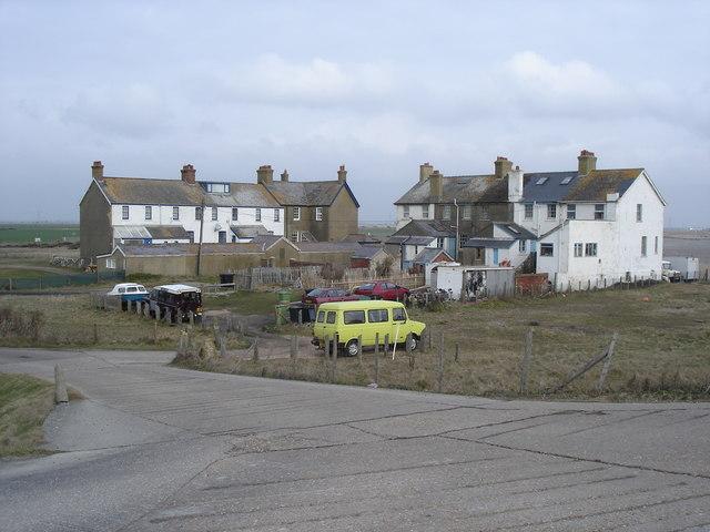 Coastguard cottages at Jury's Gap