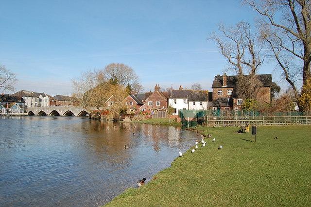 The river Avon, Fordingbridge, Hampshire