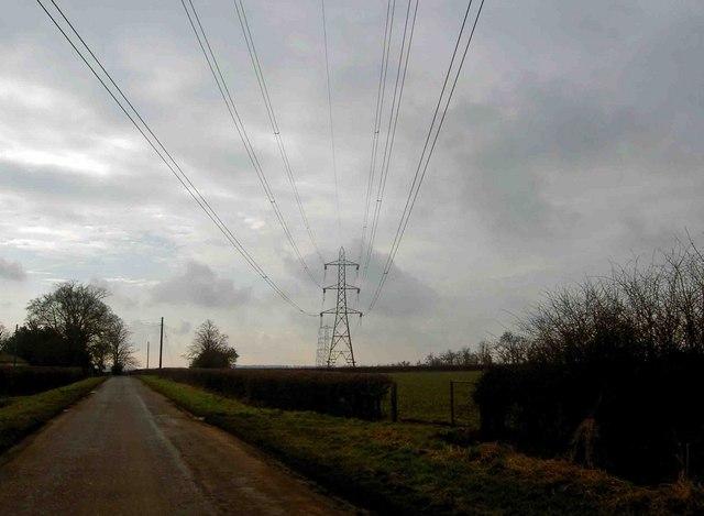 Skegby Road pylons