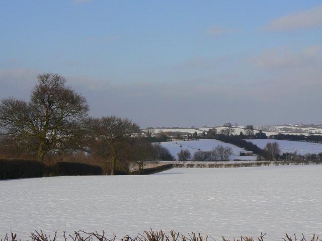 Snow landscape near East Leake
