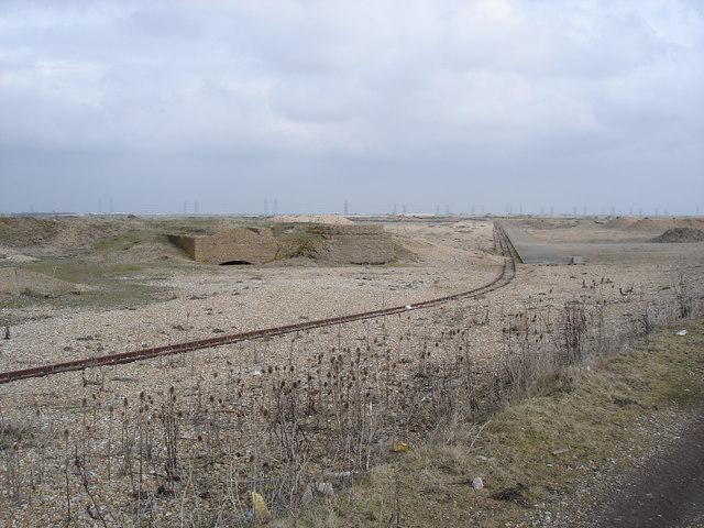 Narrow gauge railway lines on Lydd firing ranges