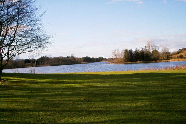 View of Forfar Loch looking westwards