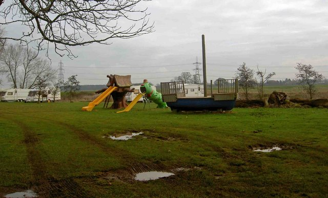Playground and campsite near the River Trent