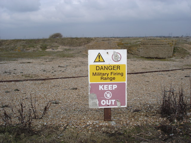 """""""Keep Out"""" notice - military firing range"""