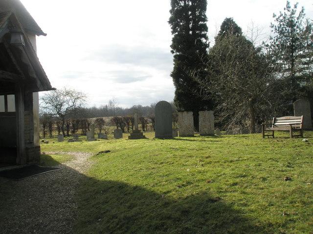 Seat in Wisley Parish Churchyard