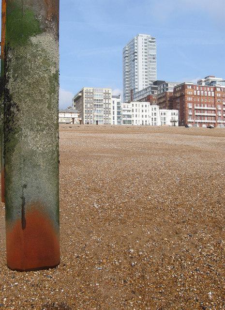 Beach by West Pier
