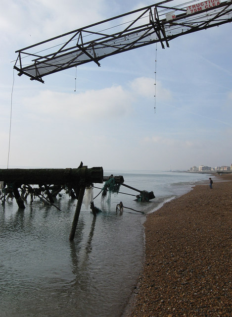 By the Wreck of the West Pier