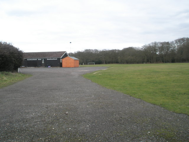 Sports field just off Wisley Lane