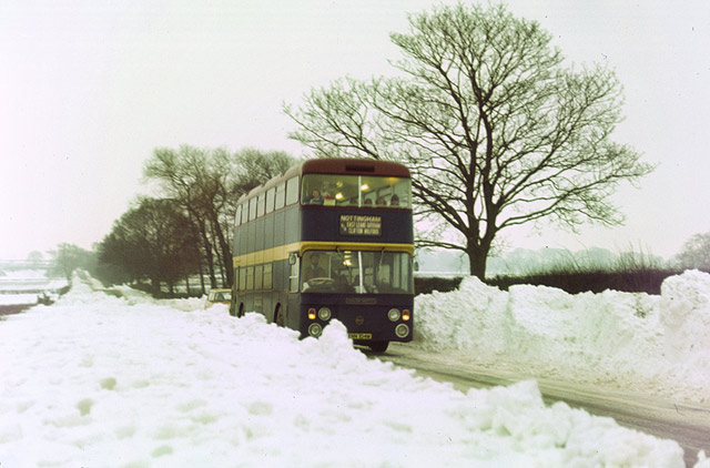 Rempstone Road in the snow
