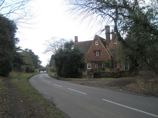 House at the eastern end of Wisley Lane