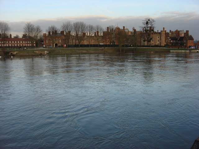 Hampton Court Palace and the River Thames