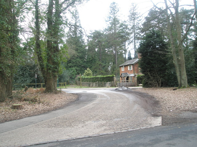 House opposite the car park for Wisley Common