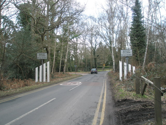 Wisley village boundary