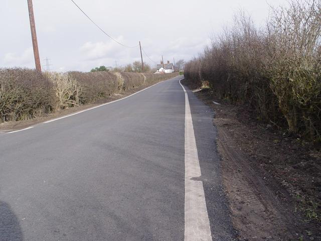 Rebuilt Road at Moss Edge