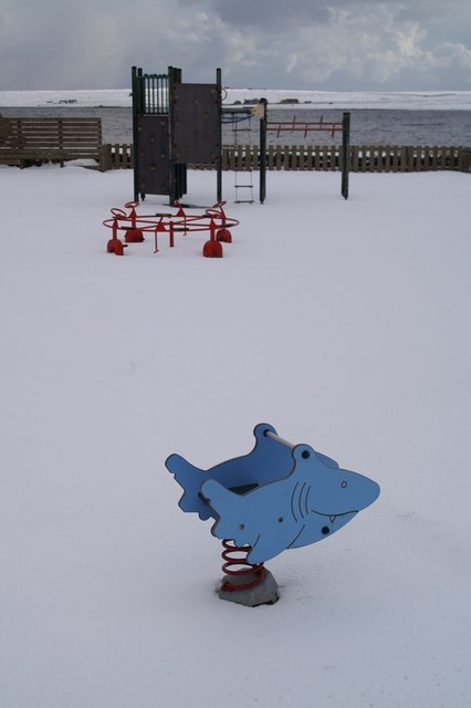 Snowy playpark, Baltasound