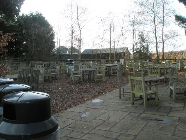 Café closed for the winter at the Royal Horticultural Society Gardens, Wisley