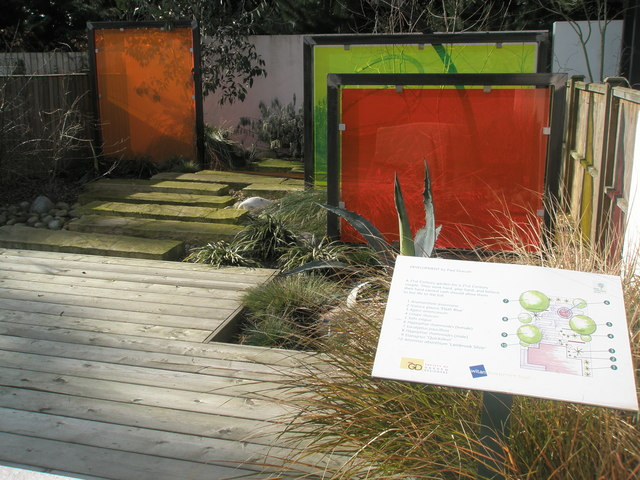 """""""Development"""" by Paul Draycott- a themed garden at the Royal Horticultural Society Gardens, Wisley"""