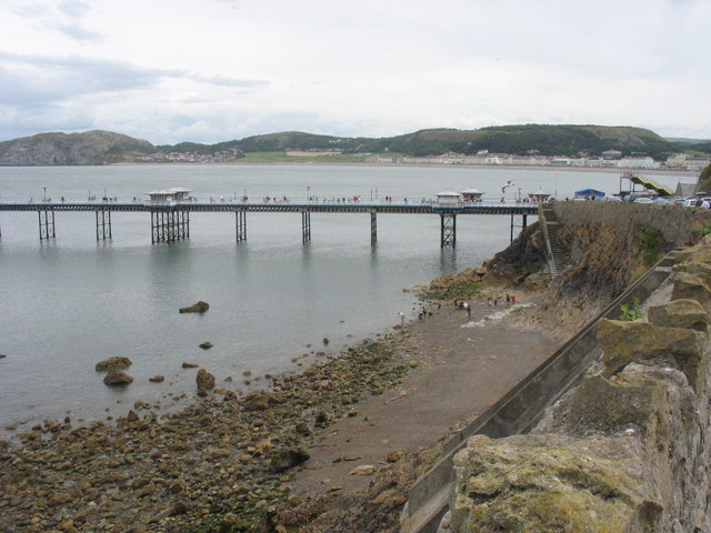 The landward end of Llandudno Pier from Happy Valley Road